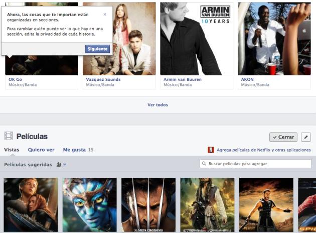 Cómo luce el nuevo perfil de Facebook
