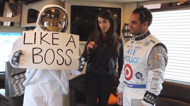 Juan Pablo Montoya VS Axe Astronaut