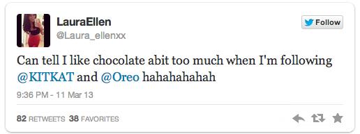 Oreo Kit Kat Tweet