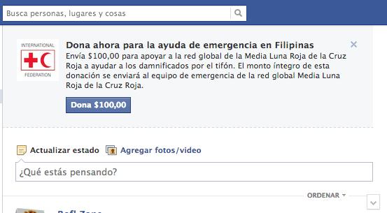 Facebook apoya Filipinas